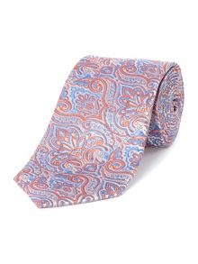 Baumler Orange paisley tie