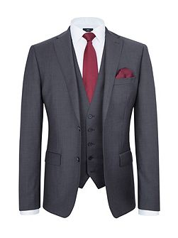 Slim Fit Light Grey Tonic Suit Jacket