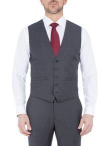 Paul Costelloe Slim fit light grey tonic waistcoat