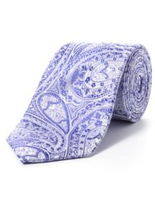 Paul Costelloe Purple intricate paisley tie