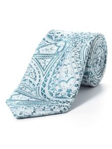Paul Costelloe Green intricate paisley tie