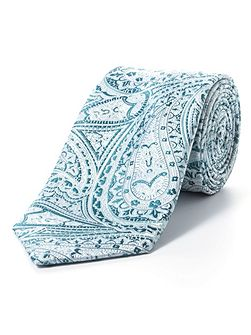 Green intricate paisley tie