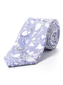 Paul Costelloe Purple tonal peony tie