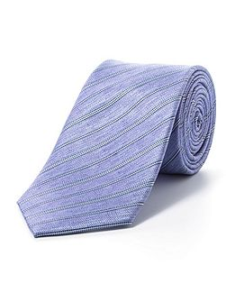 Purple pencil stripe tie