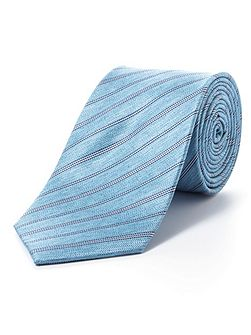 Green pencil stripe tie