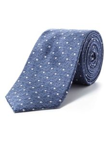 Paul Costelloe Navy herringbone spot tie