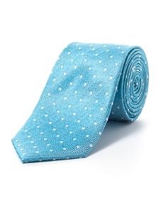 Paul Costelloe Green herringbone spot tie