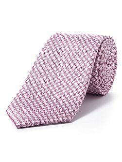 Pink diamond geometric tie