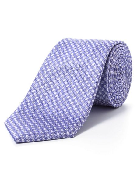 Paul Costelloe Purple diamond geometric tie