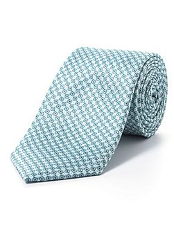 Green diamond geometric tie