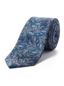 Paul Costelloe Skinny green ornamental fern tie