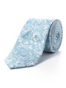 Paul Costelloe Skinny mint tonal rose tie