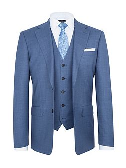 Modern Fit Blue Birdseye Suit Jacket