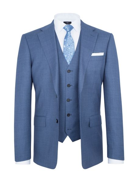 Paul Costelloe Modern Fit Blue Birdseye Suit Jacket