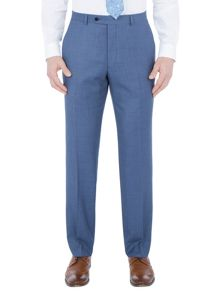 Paul Costelloe Modern fit blue birdseye suit trousers