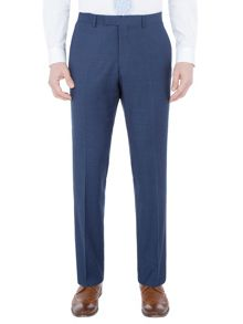 Paul Costelloe Slim fit blue micro check suit trousers