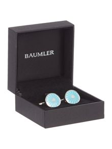 Baumler Mint green circular fan cufflinks