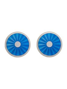 Baumler Light blue circular fan cufflinks