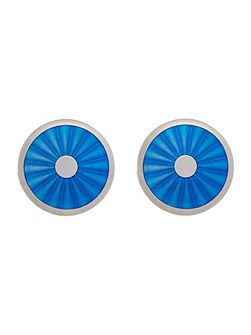 Light blue circular fan cufflinks