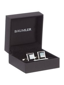 Baumler Mother of pearl jet cufflinks