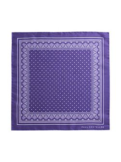 Purple spot pocket square