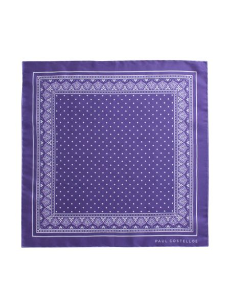 Paul Costelloe Purple spot pocket square