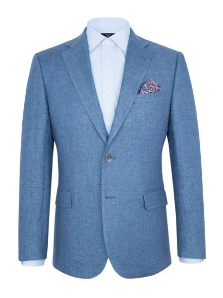 Paul Costelloe Modern Fit Light Blue Linen Jacket