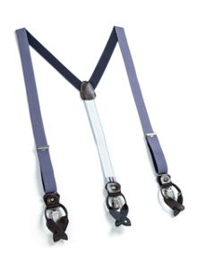 Paul Costelloe Light blue pindot braces