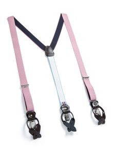 Paul Costelloe Light pink pindot braces