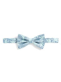 Mint & Blue Paisley Bow Tie