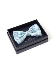 Paul Costelloe Mint & Blue Paisley Bow Tie