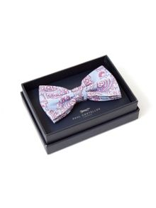 Paul Costelloe Pale Blue & Wine Bow Tie
