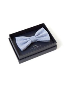 Paul Costelloe Blue Plain Bow Tie