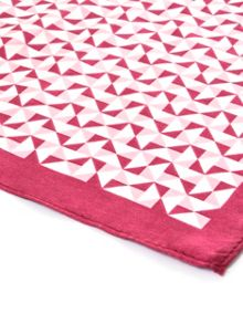 Paul Costelloe Pink geometric pocket square