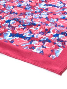 Paul Costelloe Pink Floral Pocket Square