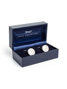 Paul Costelloe Round Crystal Centre Cufflinks