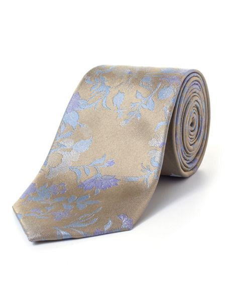 Paul Costelloe Gold Climbing Rose Silk Tie