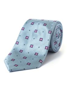 Paul Costelloe Mint Ornate Geometric Pattern Tie