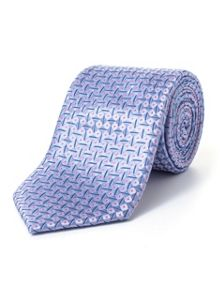 Paul Costelloe Blue Diagonal Geometric Tie