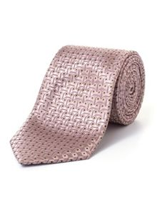 Paul Costelloe Gold and Pink Diagonal Geometric Tie