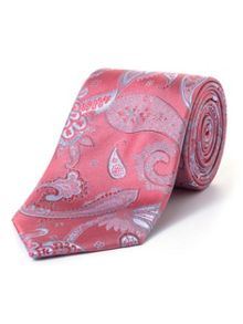 Paul Costelloe Coral Thistle Paisley Tie