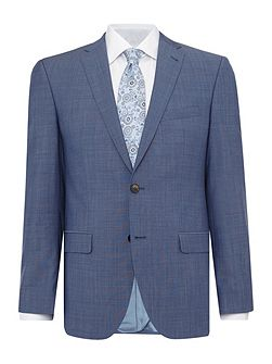Slim fit light blue mix jacket