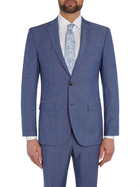 Baumler Slim fit light blue mix jacket