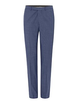 Slim fit light blue suit trousers