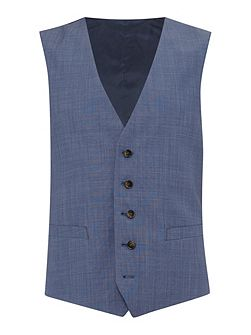 Slim fit light blue mix waistcoat