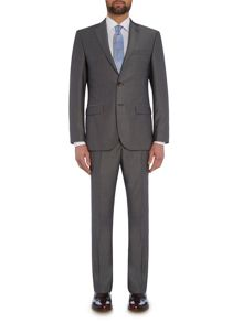 Baumler Slim fit light grey mini birdseye suit