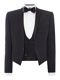 Slim Fit Black Three Piece Tuxedo