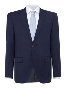 Baumler Slim fit navy check suit