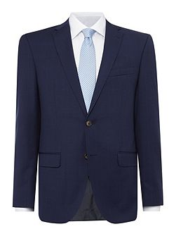 Slim fit navy check suit