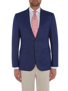 Baumler Slim fit blue micro check jacket